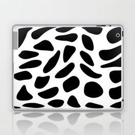 Black Pebbles Motif Laptop & iPad Skin