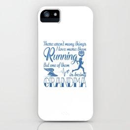 Running Grandma iPhone Case