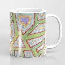 Map Pattern on Spring Green Coffee Mug