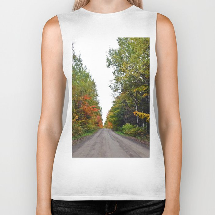 Forest Road in the Fall Biker Tank