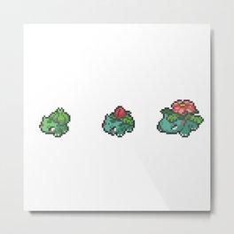 Green Evolutions Bulbasaur/Ivysaur/Venusaur Metal Print