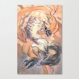 Hanami cat Canvas Print