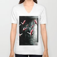 cage V-neck T-shirts featuring Bird Cage by Kay Weber