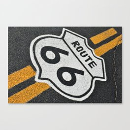 Route 66 sign. Canvas Print