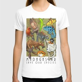 Save Our Species: Vanishing Animals of the Madagascar T-shirt