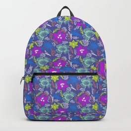 Electric Neon Floral Backpack