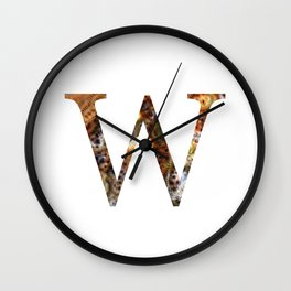 """Initial letter """"W"""" Wall Clock"""