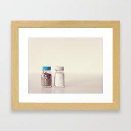 Salt and Pepper Framed Art Print