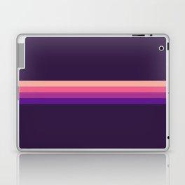 Yoshimoto - Classic Pink Purple Retro Stripes Laptop & iPad Skin
