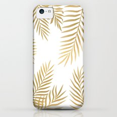 Gold palm leaves iPhone 5c Slim Case