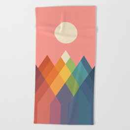 Rainbow Peak Beach Towel
