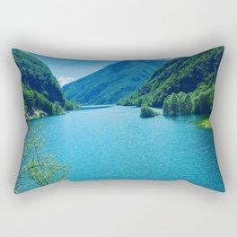 Dolomite Glacial Lake Rectangular Pillow