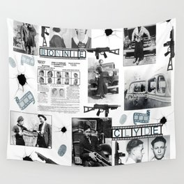 Bonnie And Clyde Wall Tapestry
