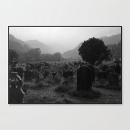 Foggy Graveyard... | Halloween Art | Canvas Print