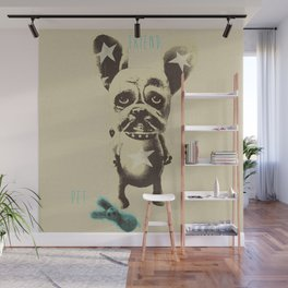 FOO FOO FRENCHIE with Pet Bunny Wall Mural