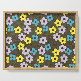 Dots & Flowers Serving Tray