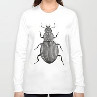 beetle Long Sleeve T-shirts featuring Beetle  by Lucia Cordero