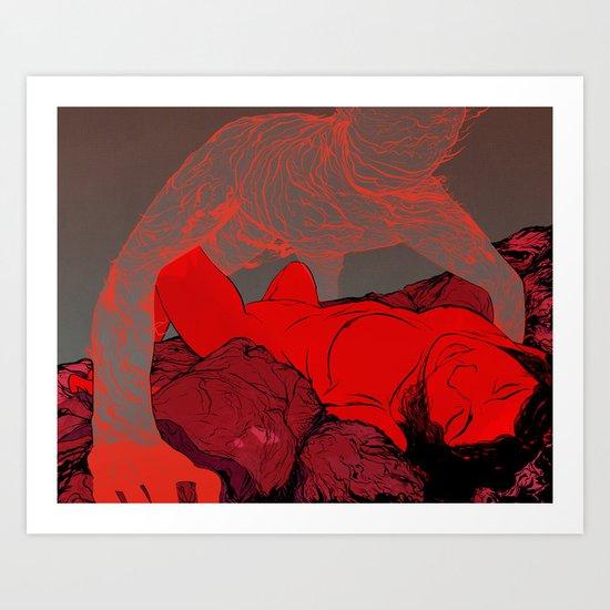 The Meat Market Art Print