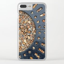Pebble Circle Clear iPhone Case