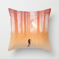 Where Light Never Ends Throw Pillow