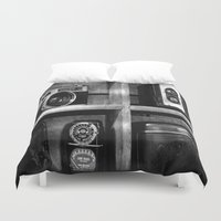 cameras Duvet Covers featuring Old Cameras by Deb Adkins