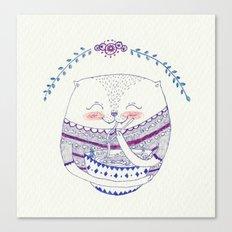 yummy cat Canvas Print