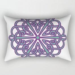 Armenian Rosette Monochrome by Ania Mardrosyan Rectangular Pillow