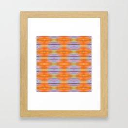 Orange ikat Framed Art Print