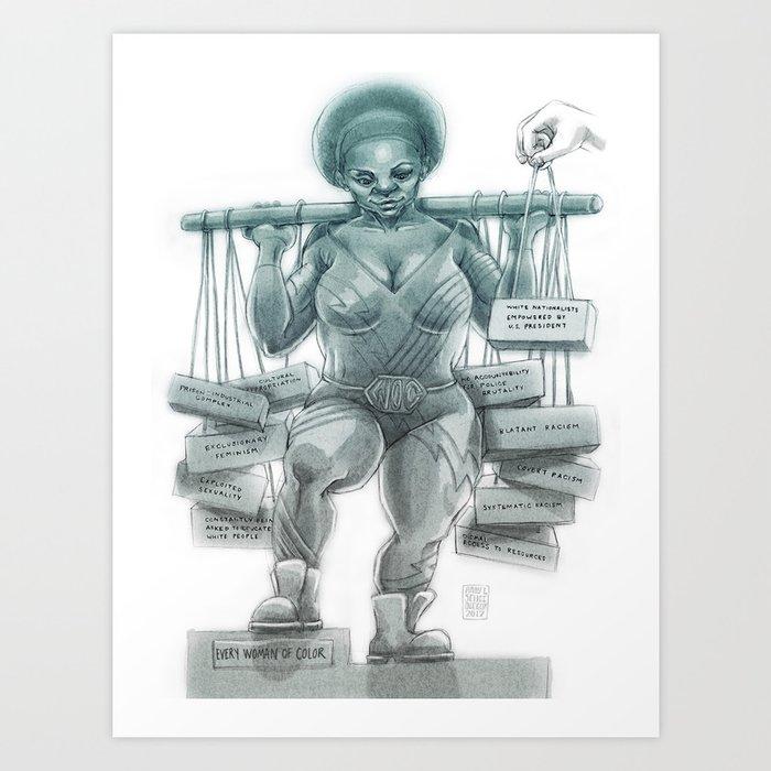 Memorialize Women Of Color Art Print