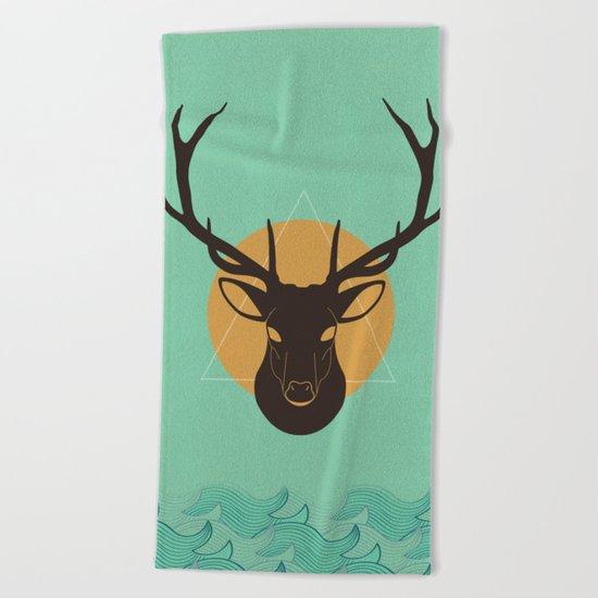 Skull 10 Beach Towel