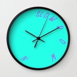 Sow Down - Aqua Wall Clock