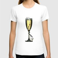 champagne T-shirts featuring Champagne by CokecinL