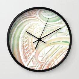 Opaque Polynesian Wall Clock