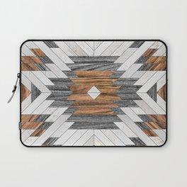 Urban Tribal Pattern No.8 - Aztec - Wood Laptop Sleeve