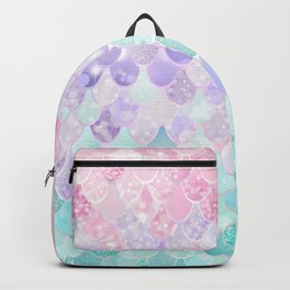 Cute Mermaid Pattern, Light Pink, Purple, Teal Backpack