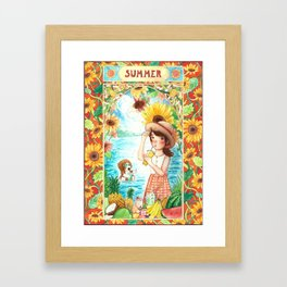 ~ S U M M E R ~ Framed Art Print