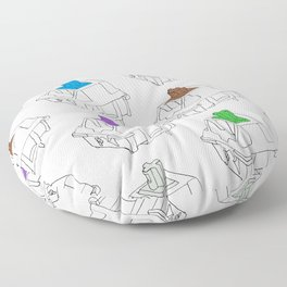 Mechanical Switches Floor Pillow