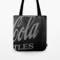 coca cola Tote Bags featuring Coca-Cola by Colbie & Co.
