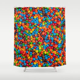 Colorful Candy-Coated Chocolate Pattern Shower Curtain