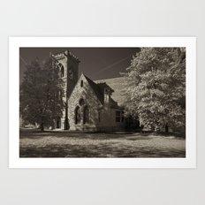 Chapel at Night Art Print