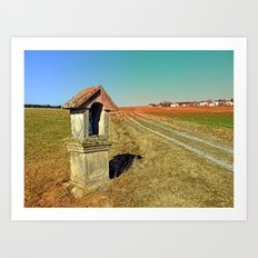 Wayside shrine with scenery 2 | landscape photography Art Print