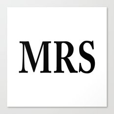 Mrs Canvas Print