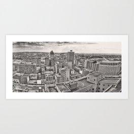 Dayton Panorama 1978 Art Print