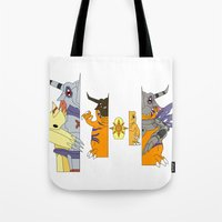 courage Tote Bags featuring Courage by Grimm Company