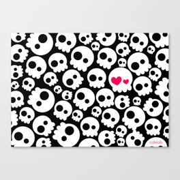 A skull in love Canvas Print