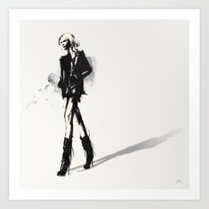 Fringe - Fashion Illustration Art Print