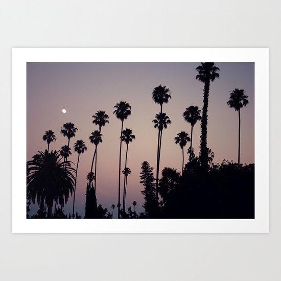 Hollywood Forever Cemetery Sunset  Art Print