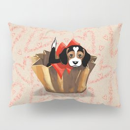 The Love Puppy — Chocolate Candy Pillow Sham