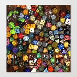 Role Playing Game Dice - NERD Canvas Print