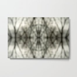 Abstract Branch Mood- Black & White Tie Dye - Natural Neutral Metal Print